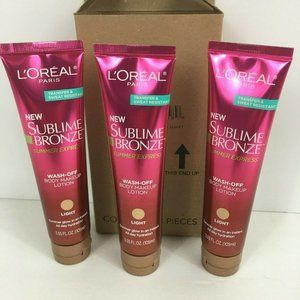 L'oreal Sublime Bronze Wash Off Body Makeup Lotion